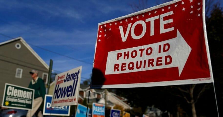 Virginia voters head to the polls at Nottingham Elementary School on Nov. 5, 2019, in Arlington, Virginia.