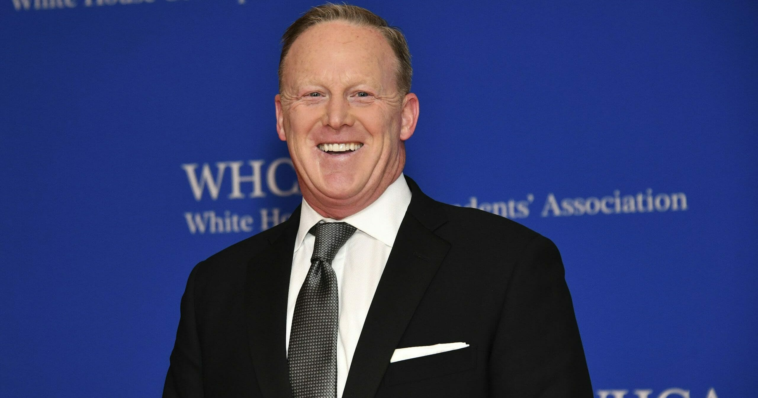 This April 27, 2019, file photo shows Sean Spicer at the 2019 White House Correspondents' Association dinner in Washington, D.C.