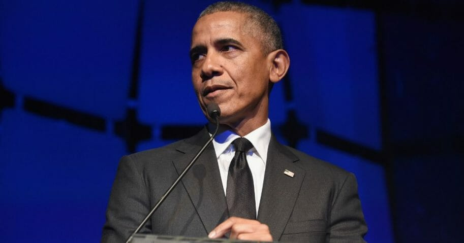 Former President Barack Obama speaks onstage during the 2019 Robert F. Kennedy Human Rights Ripple Of Hope Awards on Dec. 12, 2018, in New York City.