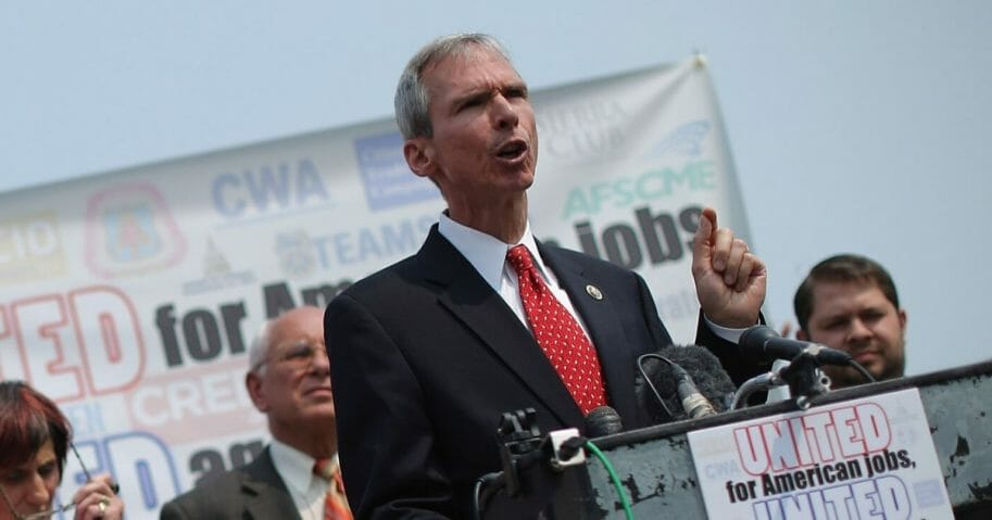 Rep. Dan Lipinski (D-Illinois) and fellow Democratic members of Congress hold a news conferenceat the U.S. Capitol on June 10, 2015, in Washington, D.C.