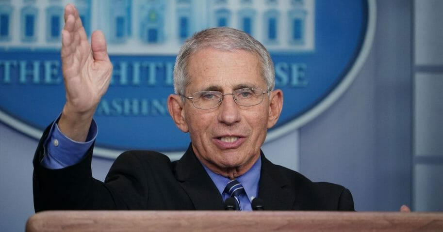 Dr. Anthony Fauci, director of the National Institute of Allergy and Infectious Diseases, speaks during the daily briefing on the novel coronavirus at the White House on March 24, 2020.
