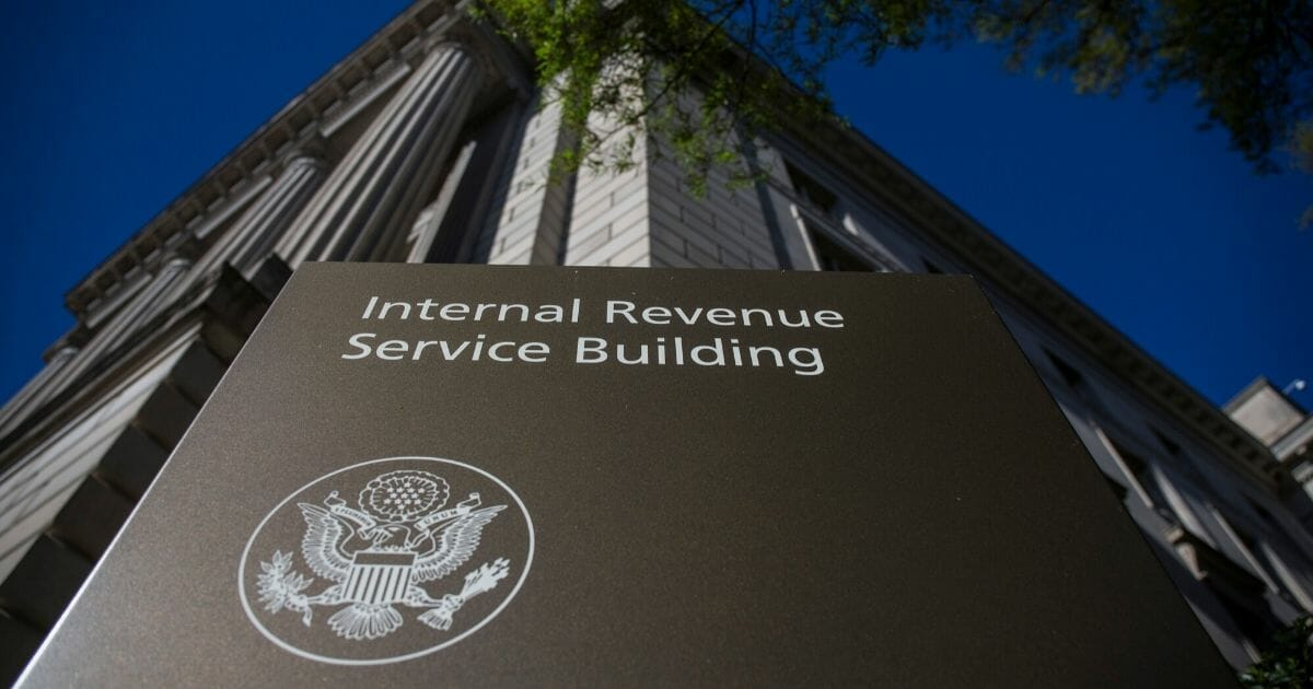 The Internal Revenue Service building stands on April 15, 2019, in Washington, D.C.