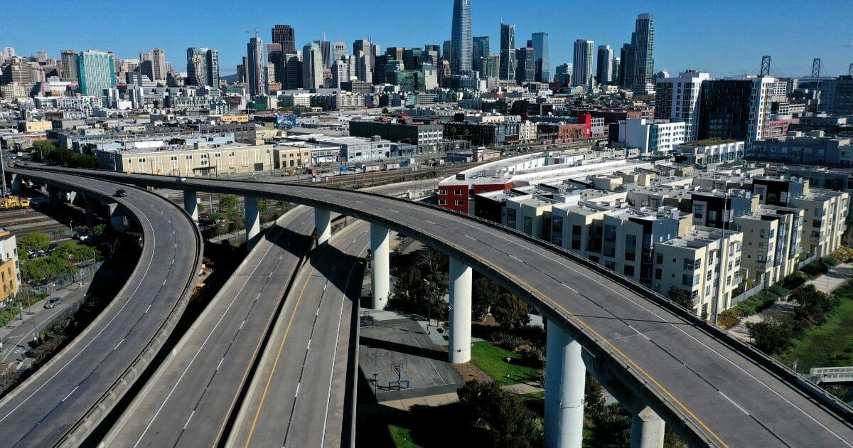 Interstate 280 in San Francisco under quarantine