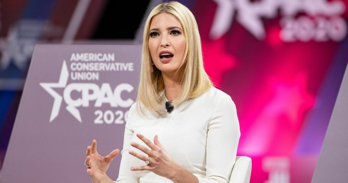 Ivanka Trump, daughter of and senior adviser to President Donald Trump, speaks at the Conservative Political Action Conference in National Harbor, Maryland, on Feb. 28, 2020.