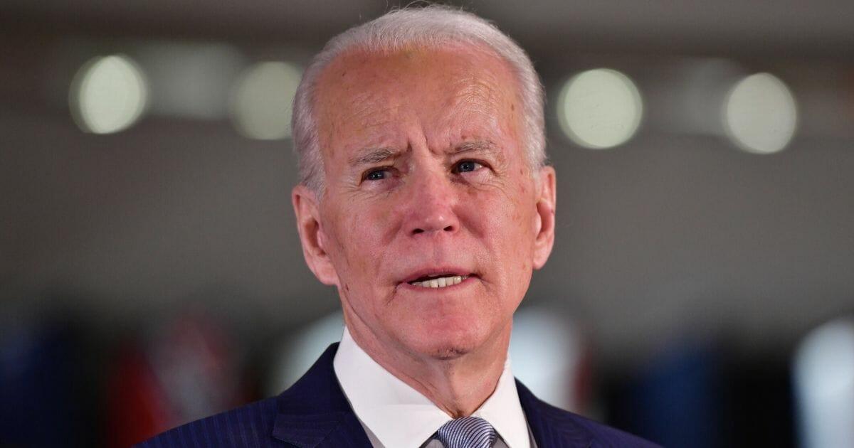 Democratic presidential candidate and former Vice President Joe Biden speaks in Philadelphia on March 10, 2020.