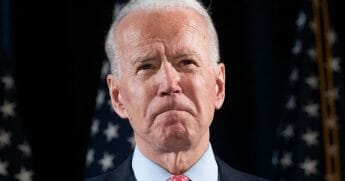 Democratic presidential hopeful and former Vice President Joe Biden speaks about COVID-19 during a media event in Wilmington, Delaware, on March 12, 2020.
