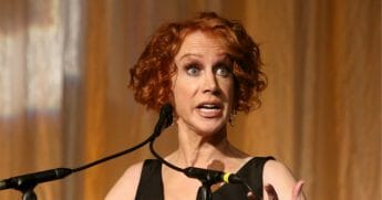 Kathy Griffin speaks onstage during the 29th Annual PEN America LitFestGala at Regent Beverly Wilshire Hotel on Nov. 1, 2019, in Beverly Hills, California.