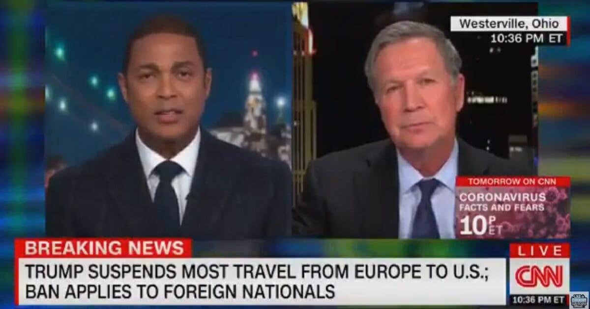 CNN's Don Lemon, left, and former Ohio Gov. John Kasich, right.