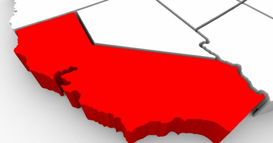 A map of the U.S. with California highlighted is pictured above.
