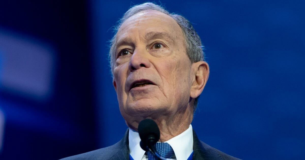 Former New York Mayor Mike Bloomberg speaks in Washington on March 2, 2020, before he ended his campaign for the Democratic presidential nomination.