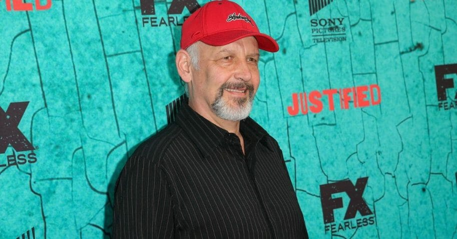 "Actor Nick Searcy attends the premiere of FX's ""Justified"" series finale at ArcLight Cinemas Cinerama Dome on April 13, 2015, in Hollywood, California."