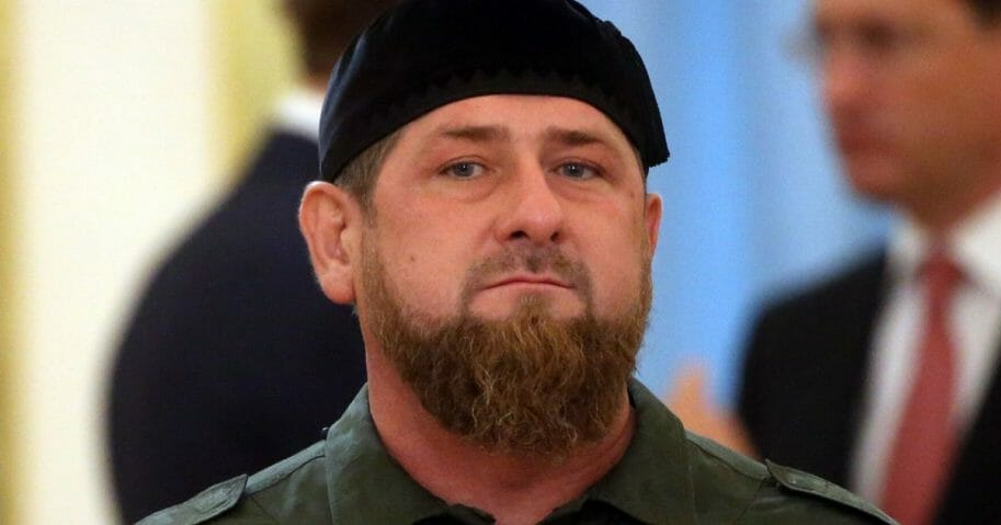 The leader of Chechnya, Ramzan Kadyrov, attends Russian-Saudi talks at the Grand Kremlin Palace on Oct. 5, 2017, in Moscow, Russia.