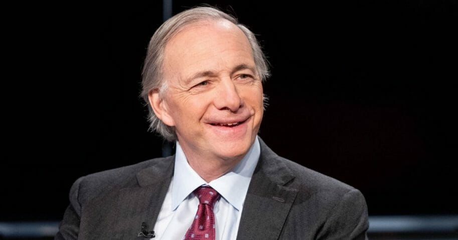 """Bridgewater Associated founder Ray Dalio visits """"Mornings with Maria"""" hosted by Maria Bartiromo at Fox Business Network Studios in New York City on Nov. 30, 2018."""