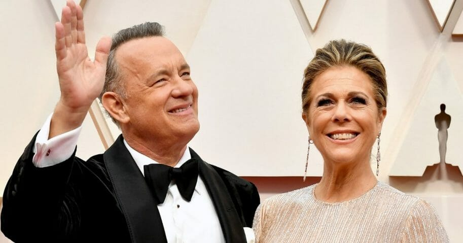Tom Hanks and Rita Wilson attend the 92nd annual Academy Awards in Hollywood, California, on Feb. 9, 2020. The couple have tested positive for the coronavirus.