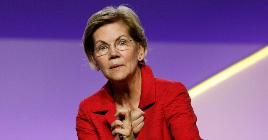Elizabeth Warren at an NAACP convention.