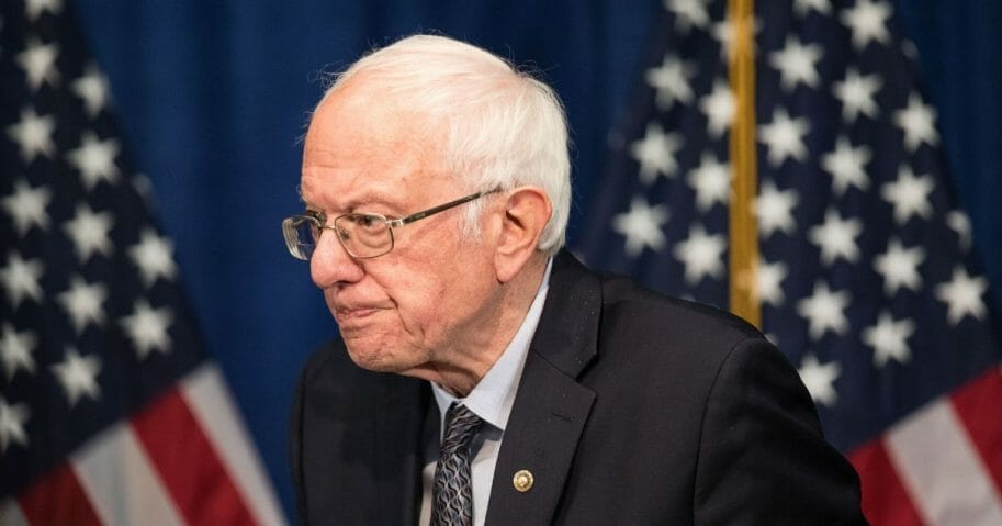 Democratic presidential candidate Sen. Bernie Sanders of Vermont walks away from the podium after delivering a campaign update at the Hotel Vermont on March 11, 2020, in Burlington, Vermont.