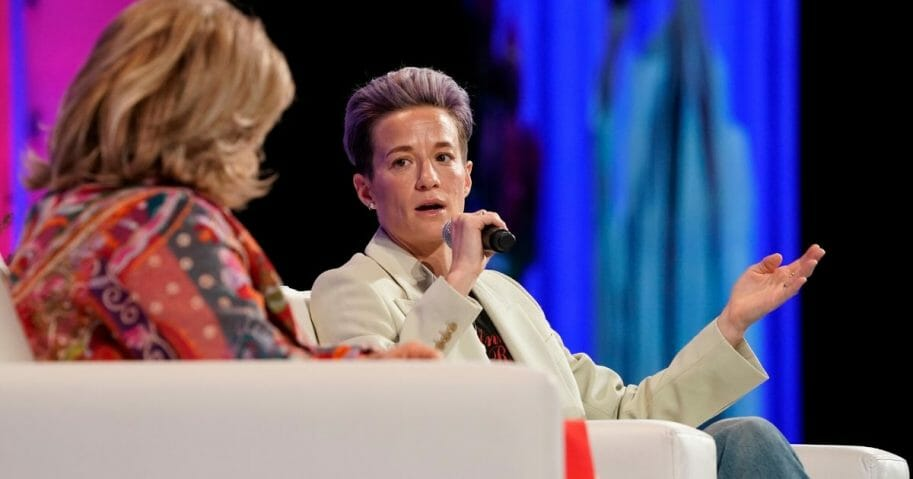 Soccer star Megan Rapinoe speaks onstage during the Watermark Conference For Women 2020 at the San Jose Convention Center on Feb. 12, 2020, in San Jose, California.