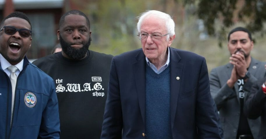 Vermont Sen. Bernie Sanders is pictured at a campaign rally Friday in Columbia, South Carolina, a day before coming in a distant second to former Vice President Joe Biden in the South Carolina Democratic primary.