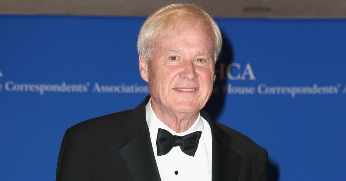MSNBC's Chris Matthews is pictured here in a file photo from the White House Correspondents' Association Dinner in 2017.