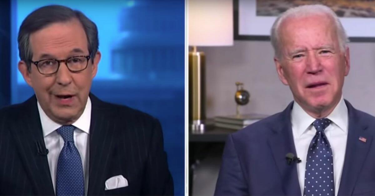 "Fox News' Chris Wallace interviews former Vice President Joe Biden on ""Fox News Sunday."""