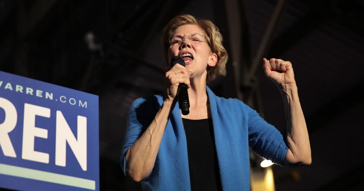 Democratic presidential candidate Sen. Elizabeth Warren of Massachusetts speaks to supporters during a rally at Eastern Market on March 3, 2020, in Detroit.