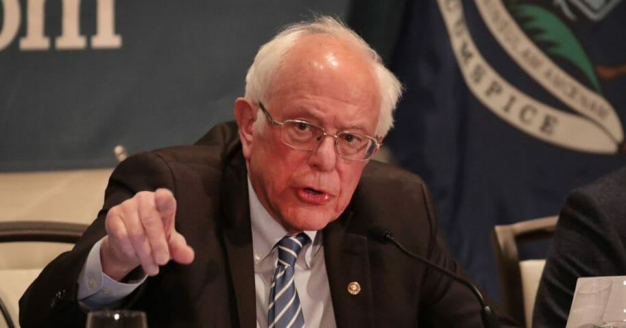 Democratic presidential candidate Sen. Bernie Sanders of Vermont hosts a coronavirus public health roundtable with health care professionals as he continues his campaign swing through the Midwest on March 9, 2020, in Detroit, Michigan.