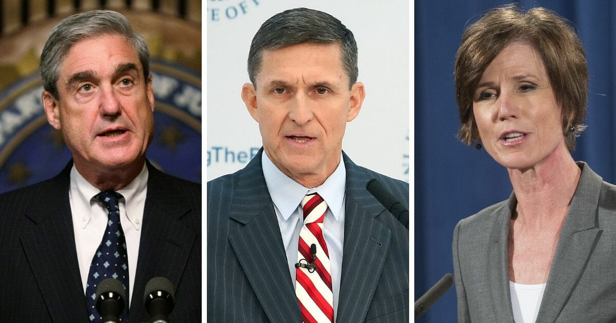 From left: Former special counsel Robert Mueller; former National Security Advisor Michael Flynn; former acting Attorney General Sally Yates. left, fo