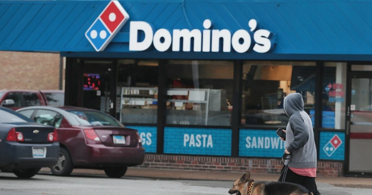A Domino's franchise is pictured in a 2017 file photo from Chicago.