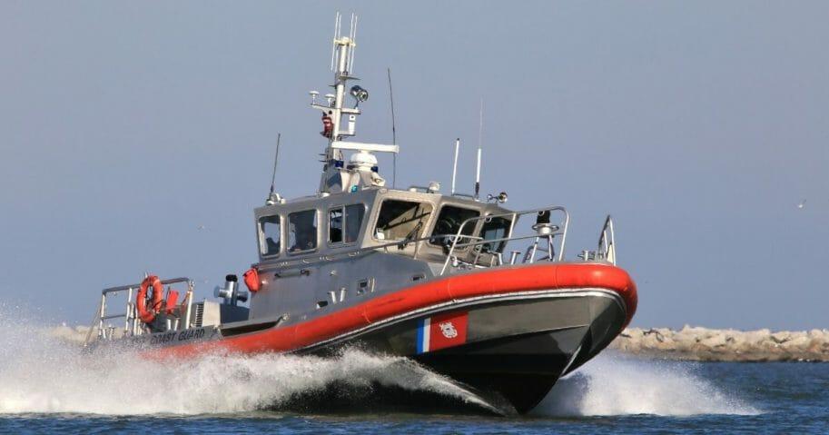 A stock photo of a Coast Guard vessel