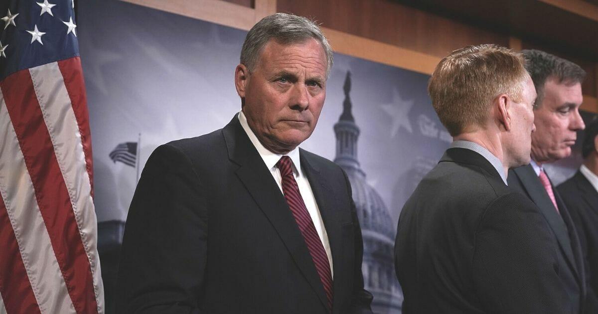 North Carolina Sen. Richard Burr in a March 2018 file photo.