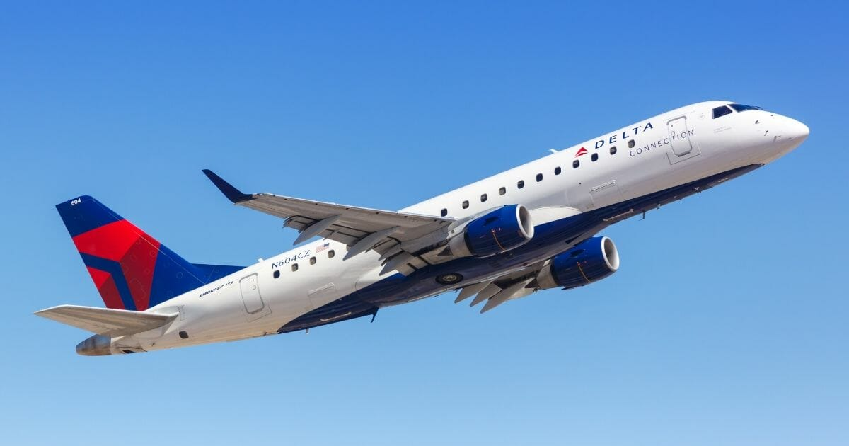 A Delta Connection Embraer ERJ 175 airplane at Phoenix Sky Harbor Airport in Phoenix.