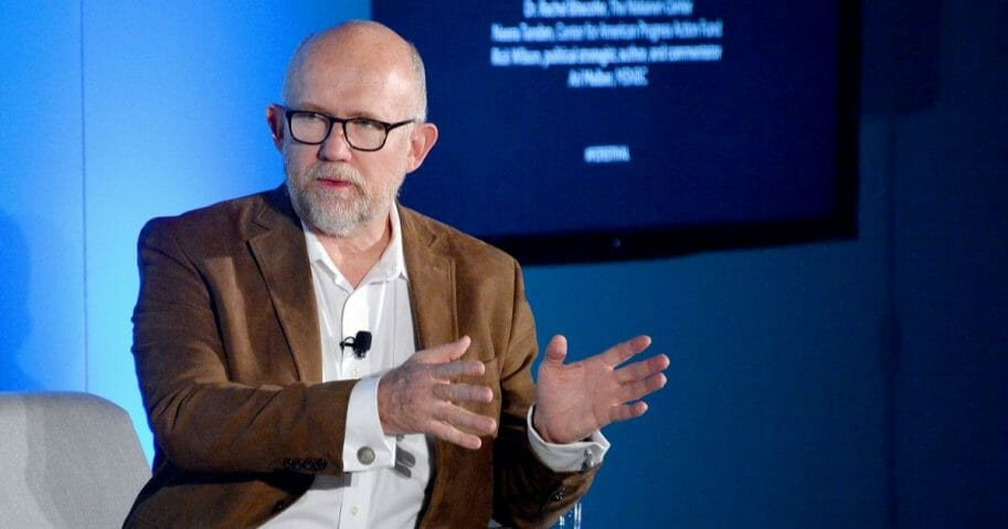 "Anti-Trump political commentator Rick Wilson speaks onstage at the ""2020 Vision: Political Roundtable"" panel on Nov. 7, 2019, in New York City."