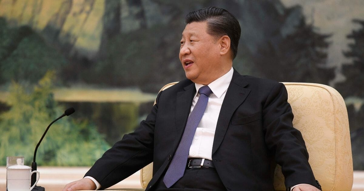 Chinese President Xi Jinping attends a meeting with Tedros Adhanom, director-general of the World Health Organization, at the Great Hall of the People on Jan. 28, 2020, in Beijing.