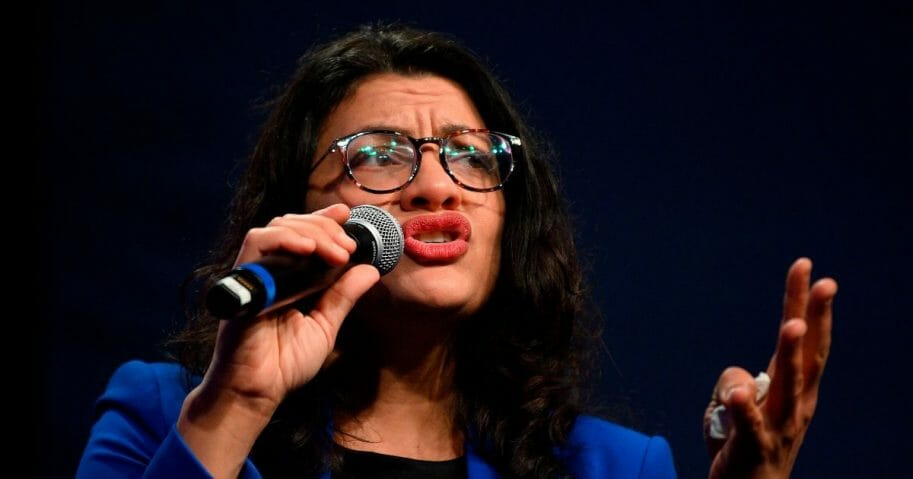 Democratic Rep. Rashida Tlaib of Michigan speaks to supporters of Democratic presidential candidate Sen. Bernie Sanders of Vermont at a campaign event in Clive, Iowa, on Jan. 31, 2020.