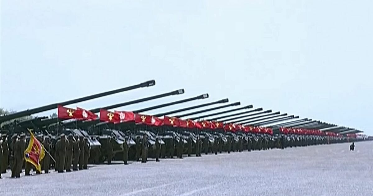 North Korean military drills in 2017.
