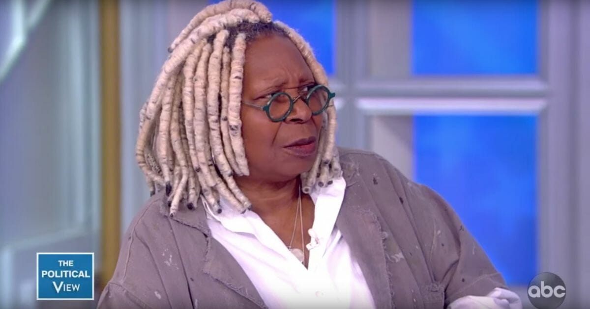 """""""The View"""" co-host Whoopi Goldberg reacts on the ABC show."""