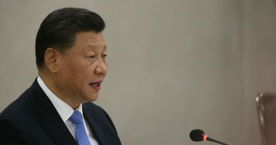 Chinese President Xi Jinping is seen on Nov. 13, 2019, in Brasilia, Brazil.