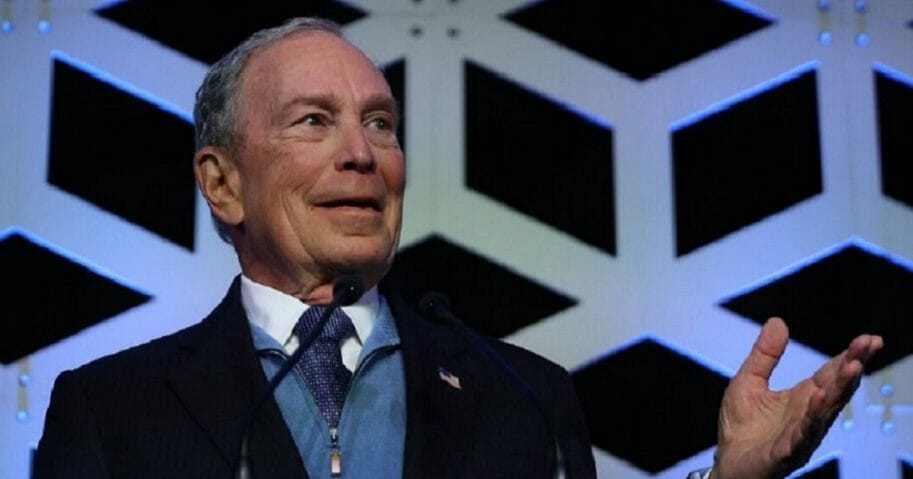 Former New York City Mayor Michael Bloomberg makes a campaign stop in North Carolina on Saturday.