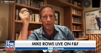 """Television host and author Mike Rowe appears on """"Fox & Friends"""" on Monday."""