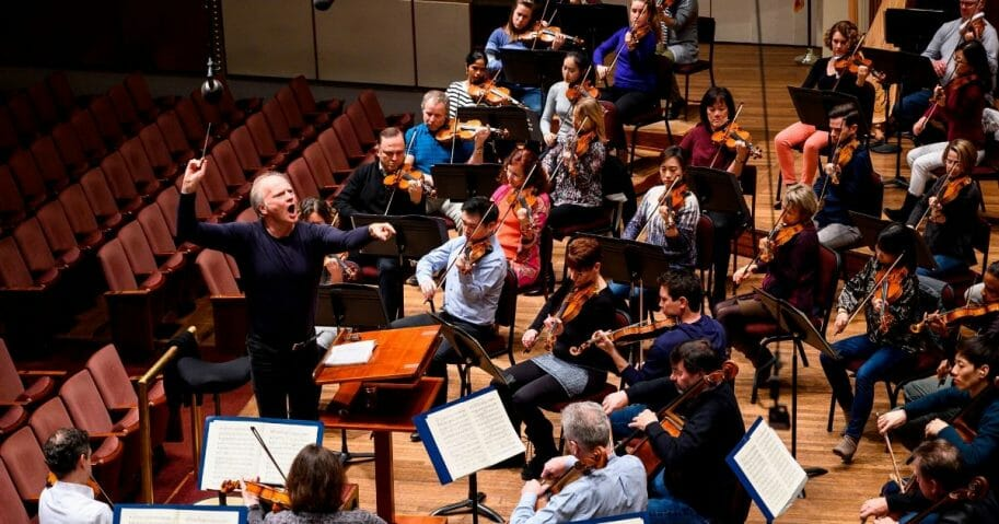 Italian conductor Gianandrea Noseda conducts the National Symphony Orchestra