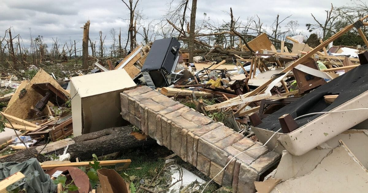 The home of Lawrence County, Mississippi Deputy Robert Ainsworth and his wife, Paula, was destroyed by a tornado.