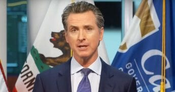 California Gov. Gavin Newsom speaks at a coronavirus news briefing on April 1, 2020.