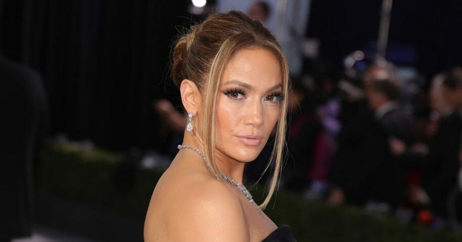A bodybuilder from Houston has been told she bears a striking resemblance to Jennifer Lopez, who's pictured above.
