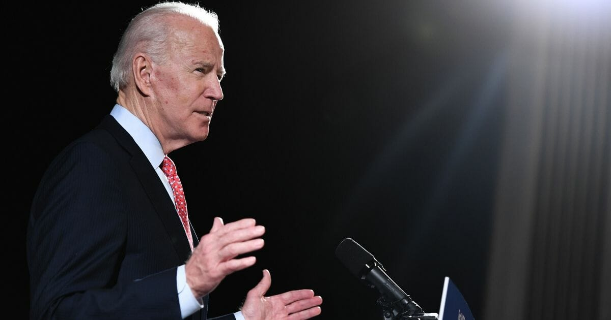 Former vice president and Democratic presidential hopeful Joe Biden speaks about COVID-19 during a media event in Wilmington, Delaware, on March 12, 2020.