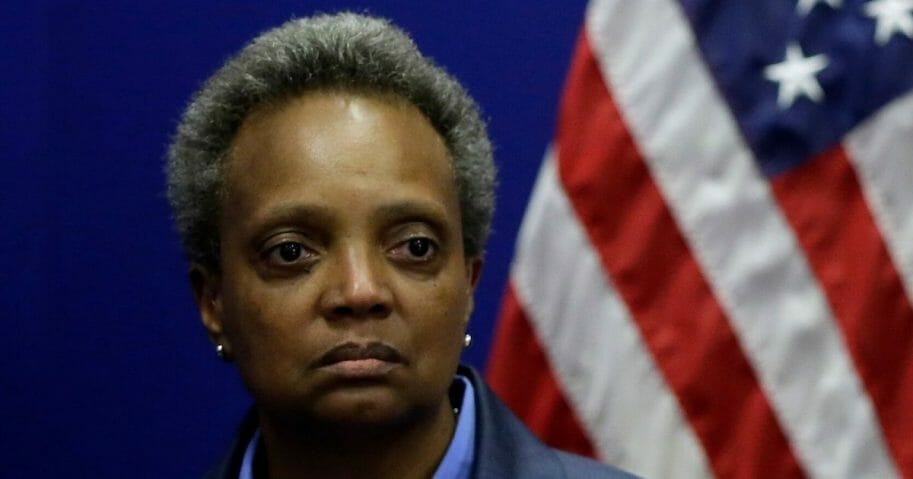 Mayor Lori Lightfoot is seen at the Chicago Police Department's headquarters on Nov. 7, 2019, in Chicago, Illinois.