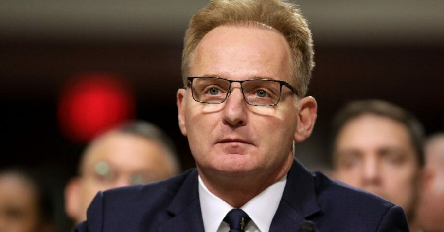 Acting Navy Secretary Thomas Modly testifies before the Senate Armed Services Committee in the Dirksen Senate Office Building on Capitol Hill in Washington on Dec. 3, 2019.