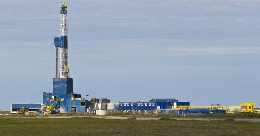 North Slope oil drilling rig
