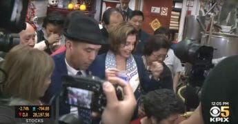 "House Speaker Nancy Pelosi visits San Francisco's Chinatown ""to allay fears over coronavirus."""