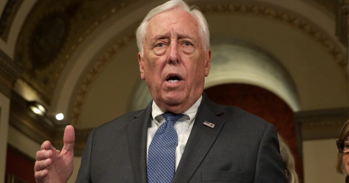 House Majority Leader Rep. Steny Hoyer (D-Maryland) speaks to members of the media at the U.S. Capitol on March 13, 2020, in Washington, D.C.
