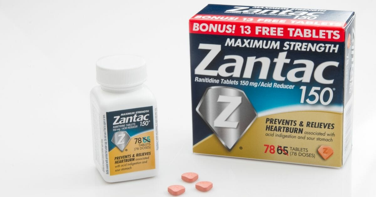 Stock image of Zantac, a popular acid reflux medication for which the FDA is now requesting complete market withdrawal.